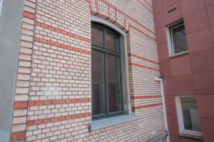 Antikes Fenster grün