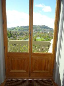 Balkontür mit Füllung Eiche