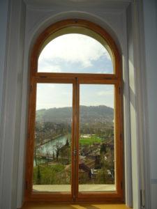 Bogenfenster-Aussicht