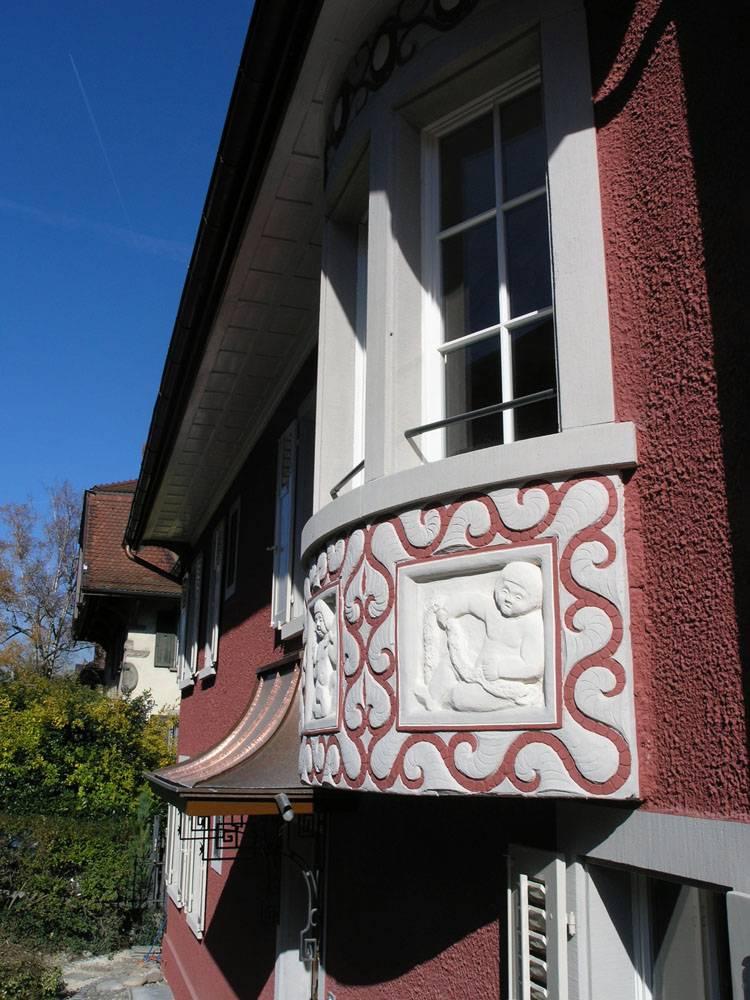 Erker-Fenster Historismus